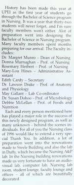 School of Nursing Opening in 1992 [2]